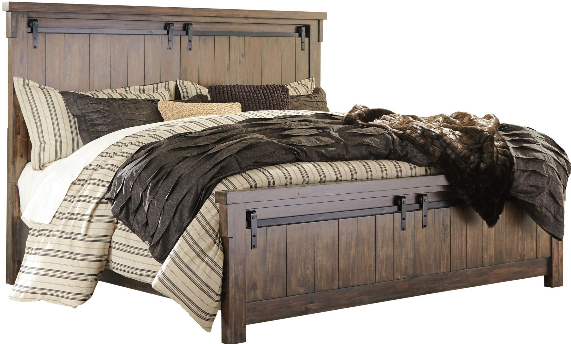 Lakeleigh Brown Panel Bedroom Set With Images Queen Panel Beds Panel Bed King Bedroom Sets
