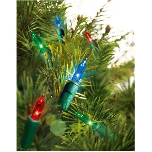 Holiday Time 60-Count LED Strand Christmas Lights, Multi-Color