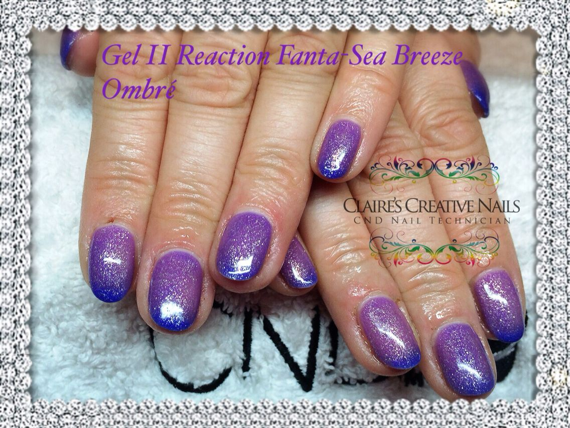 Gel II Reaction in \'Fanta-Sea Breeze\'. By Claire\'s Creative Nails ...