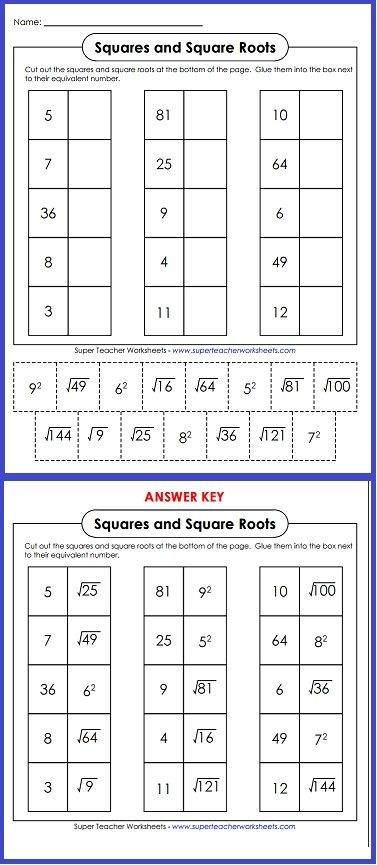 Try Out This Worksheet On Squares And Square Roots Homeschool
