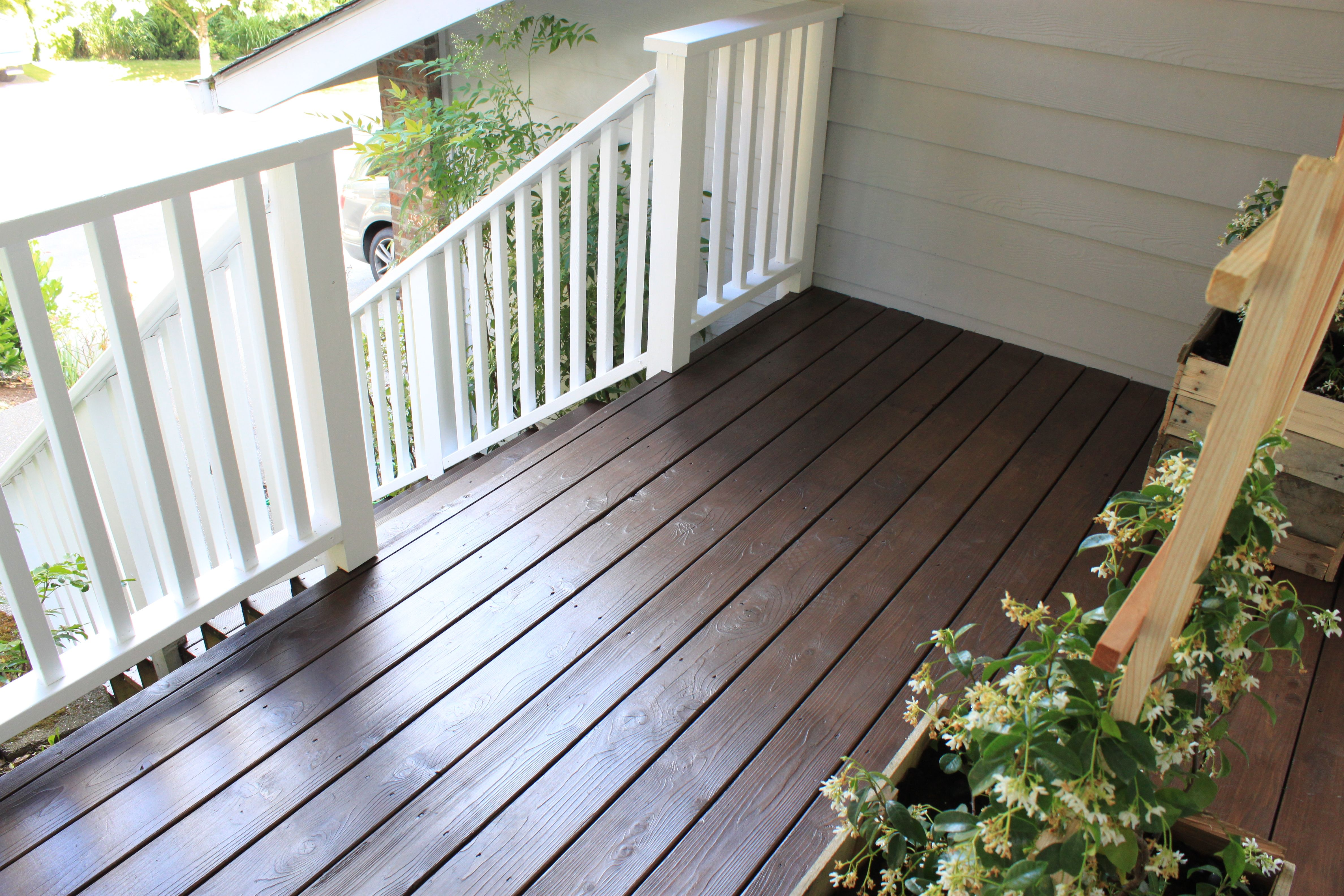 Behr Semi Padre Brown Behr Solid White Railings So You