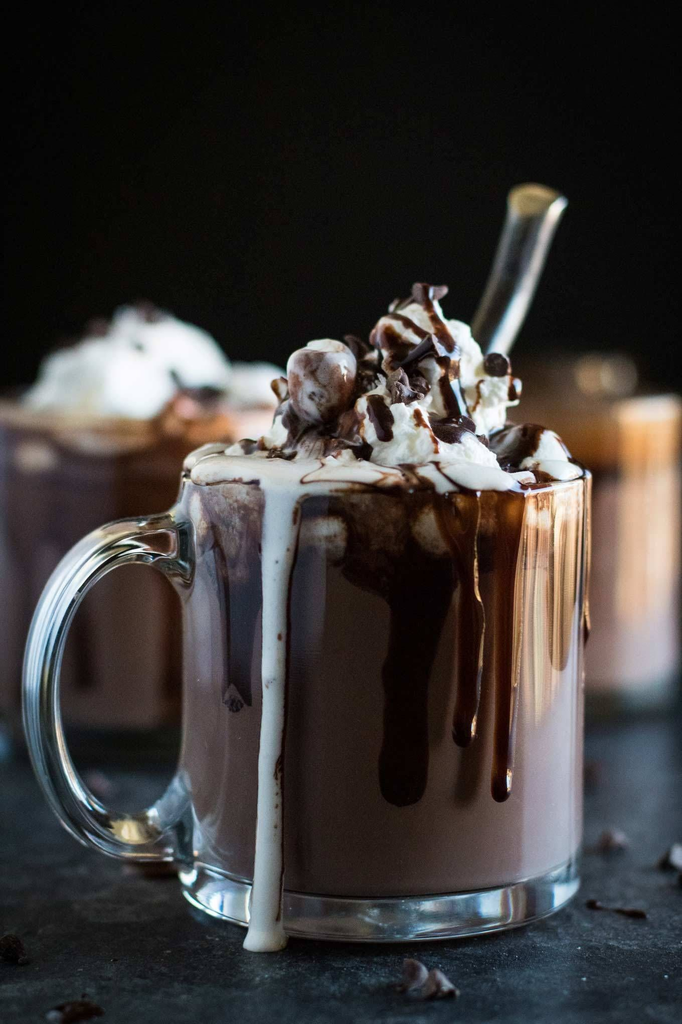 Thick Hot Chocolate with London Fog Whipped Cream Recipe