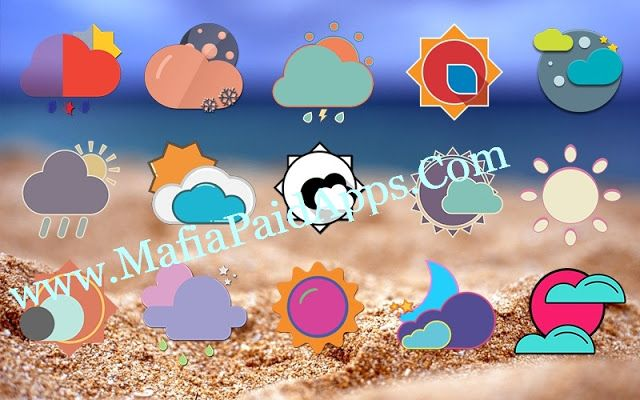 Zai3 Weather Komponents Kustom v1.10 Apk Weather icons