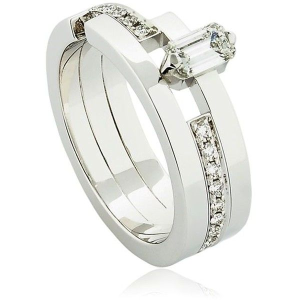 Dauphin Womens White Diamond Ring RANgi4d