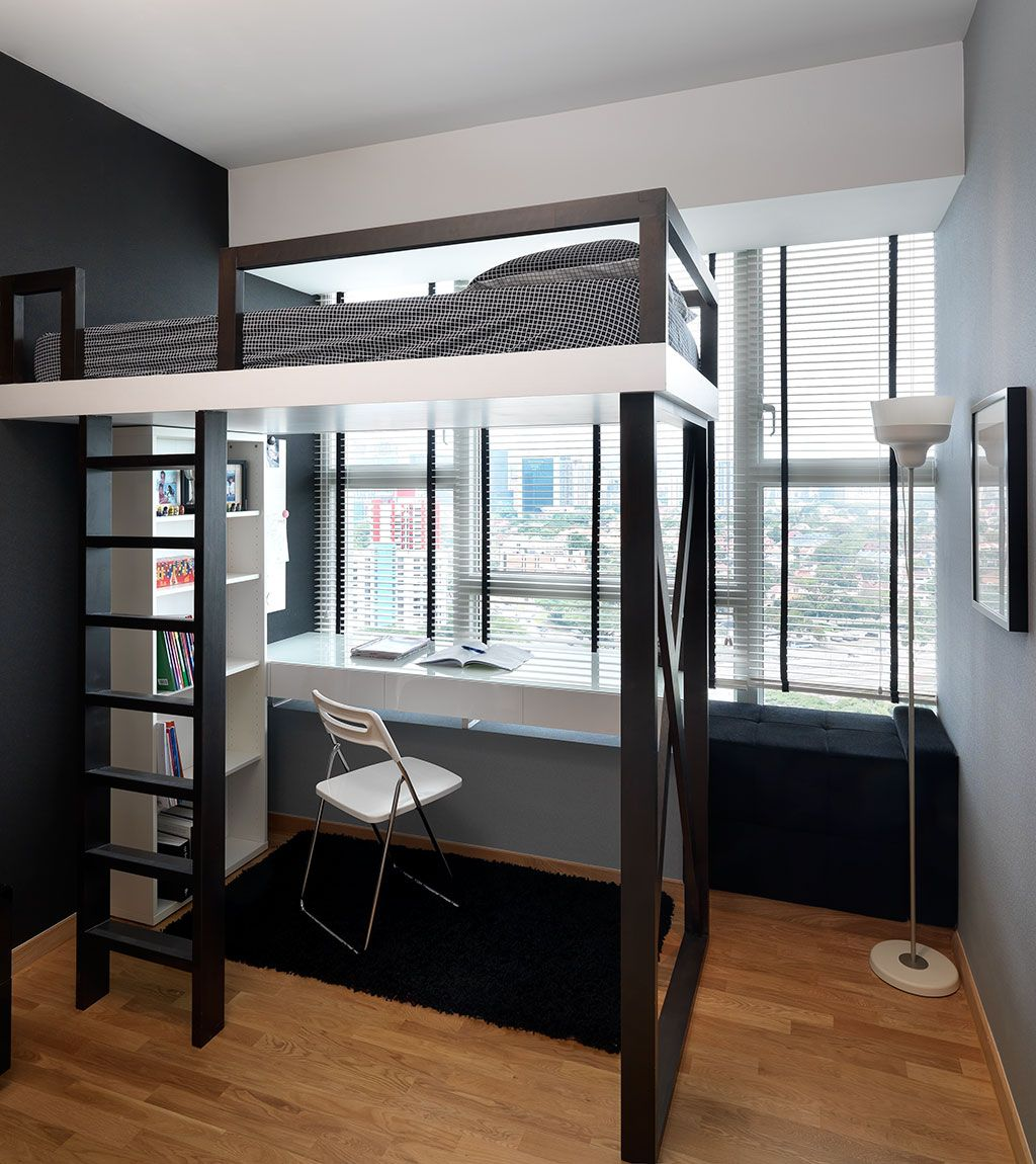 Delightful Small Condo Bedroom Ideas Part - 8: View Study Room U0026 Bedroom Designs U0026 Renovation Portfolio For HDB, Condo U0026  Landed Property