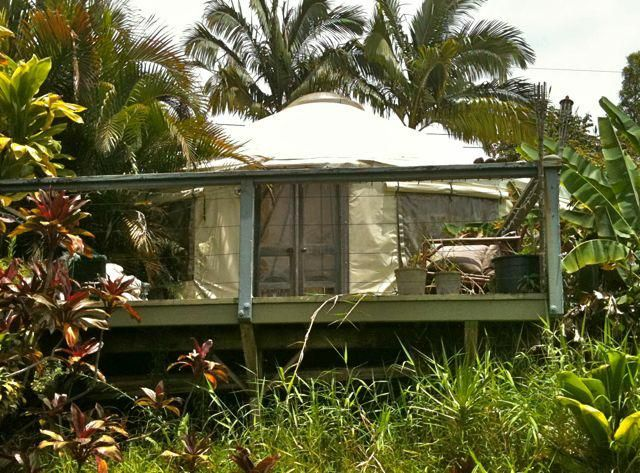 Living With Less In Haiku Maui Hi It S A Yurt On A Deck