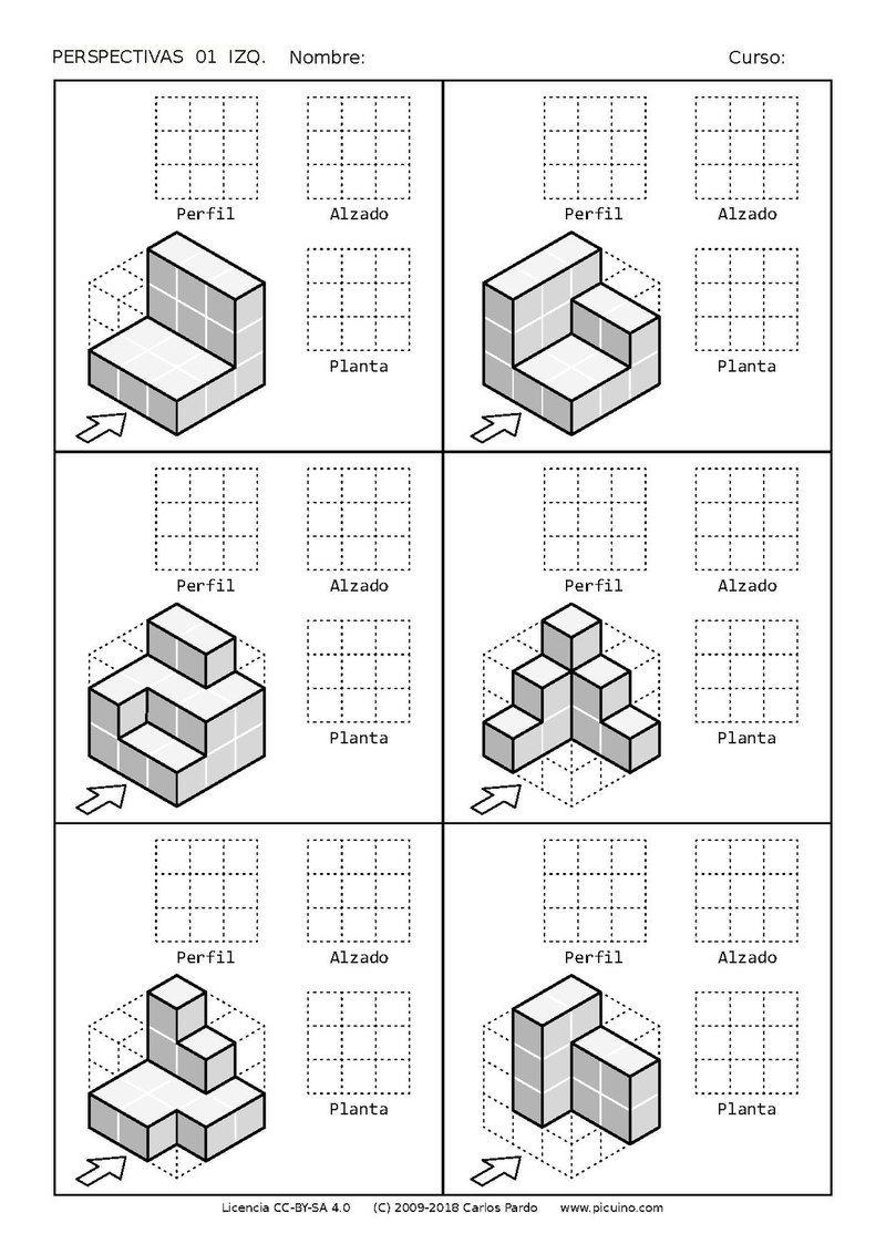 Ejercicios De Vistas Y Perspectivas Alzado Izquierdo Piezas Simples Clases De Dibujo Tecnico Ejercicios De Dibujo Vistas Dibujo Tecnico