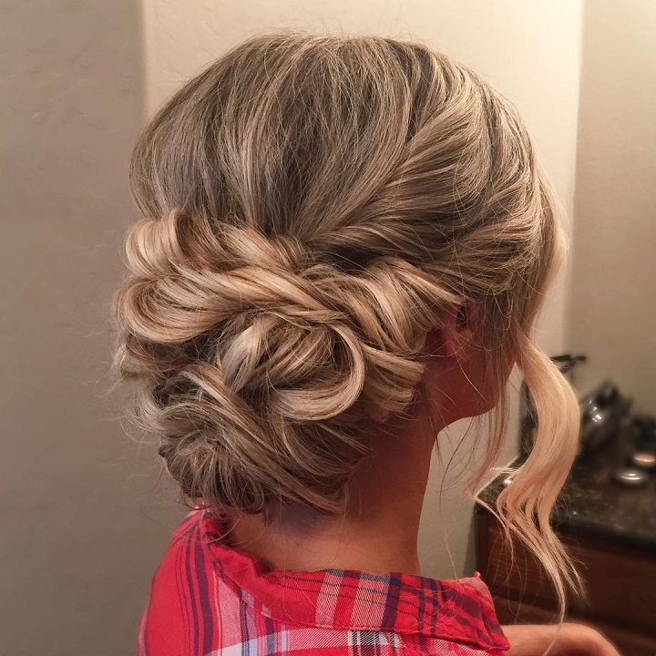 Wedding Hairstyles For Fat Faces: Beautiful Twisted Updo Wedding Hairstyle For Romantic Brides