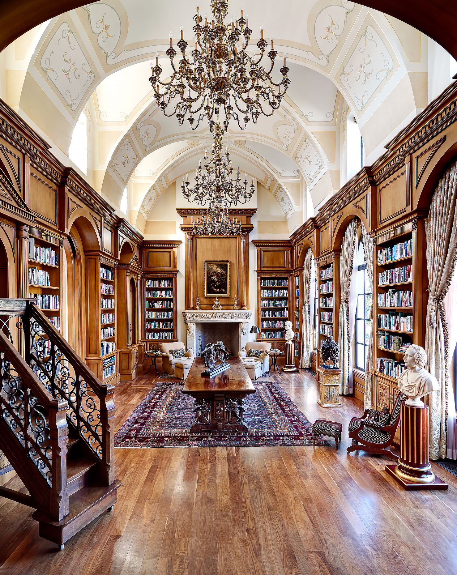 Gainesville Luxury Designer Home: Gorgeous Libraries To Inspire Your Home Library