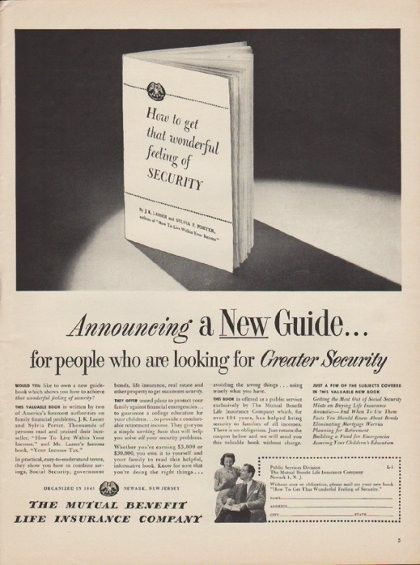 1971 New York Life Insurance Print Ad On His Very First Day Of