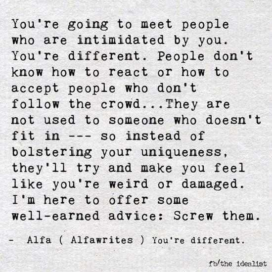 [Image]You're different.