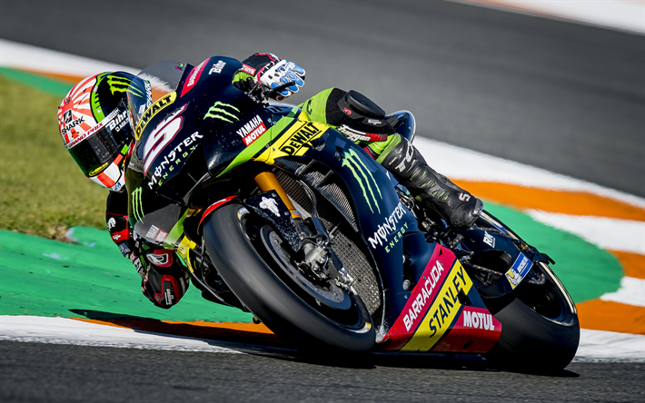 Download Wallpapers 4k Johann Zarco Rider Monster Yamaha