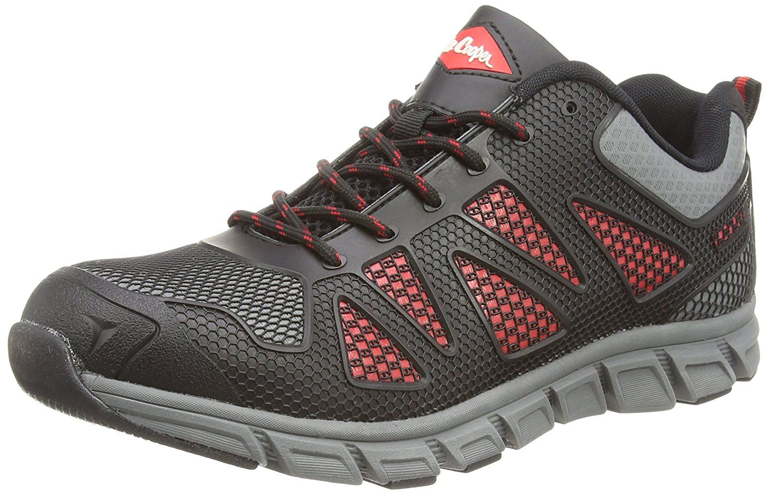 Lee Cooper Workwear Men's 088 S1P Safety Trainers Black