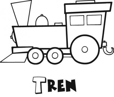 Mi colección de dibujos: Dibujos de trenes para pintar   MEDIOS DE ...