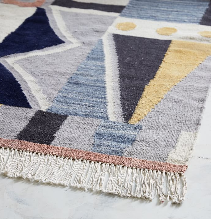 Bedroom This Modern Dhurrie Area Rug Is In Excellent Condition It Has Never Been Used And Still Has A West Elm Store Tag Inspire Rugs Home Rugs Rug Shopping