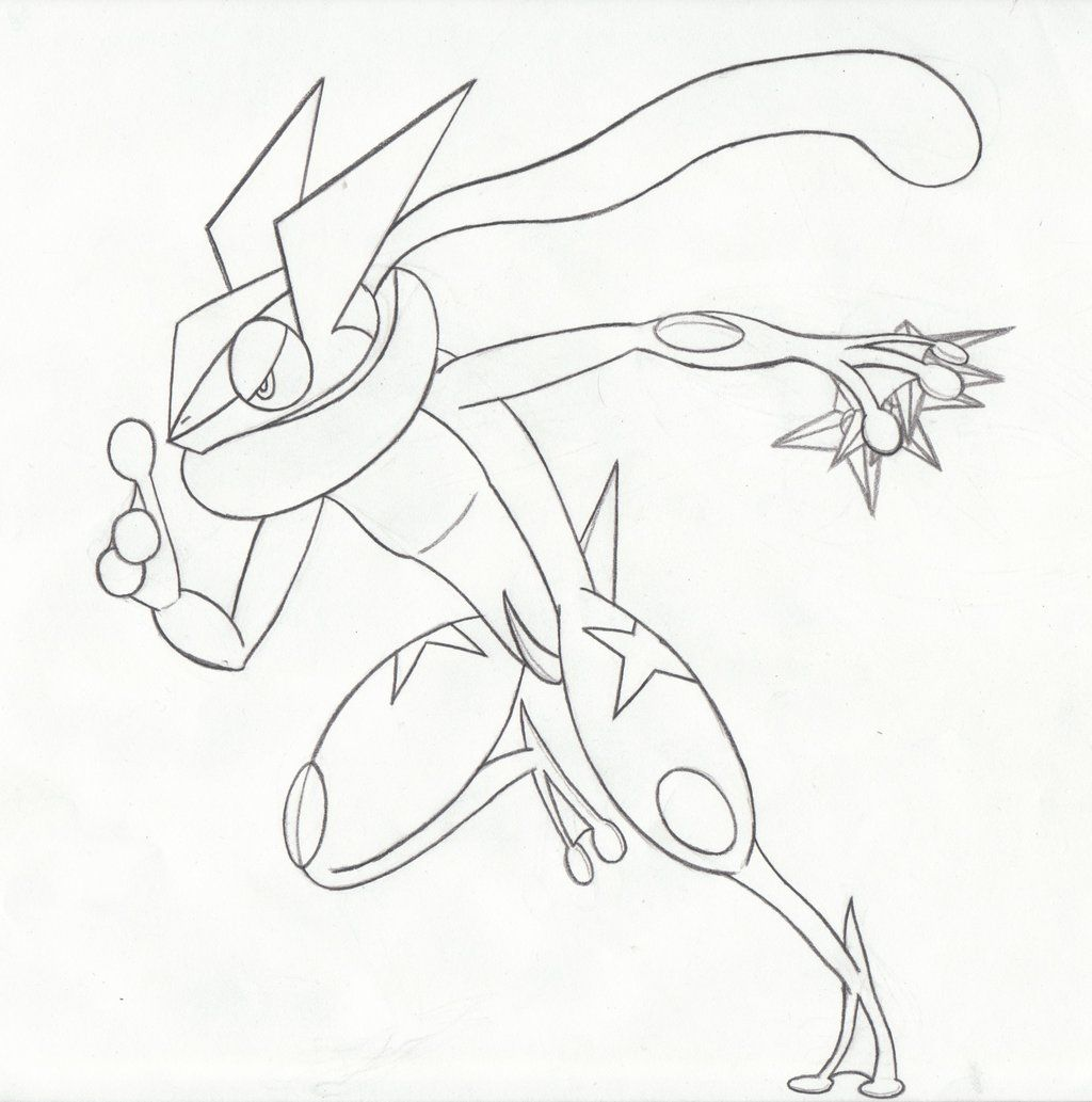 greninja pokemon ash coloring pages