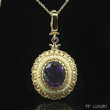 Vintage style oval amethyst 14k yellow gold pendant 108900 vintage style oval amethyst 14k yellow gold pendant 108900 orospot yellow gold mozeypictures Choice Image