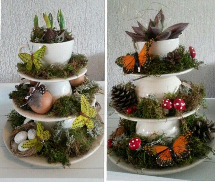 Een lente en een herfst variant alles staat gewoon los op elkaar dus als je het zat bent kan - Decoratie schotel ...