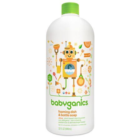 Babyganics Foaming Dish Bottle Soap Refill Citrus 32 Fl Oz
