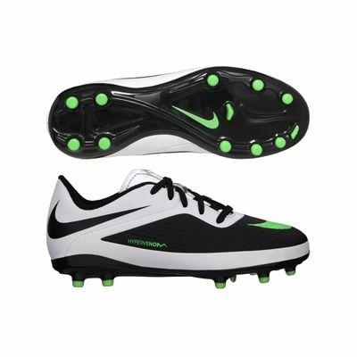 Nike JR Hypervenom Phelon FG Soccer Cleats WhiteBlack