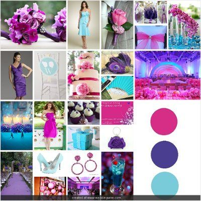 My colors!!! Fuchsia, Purple, and Aqua will make for a beautiful ...