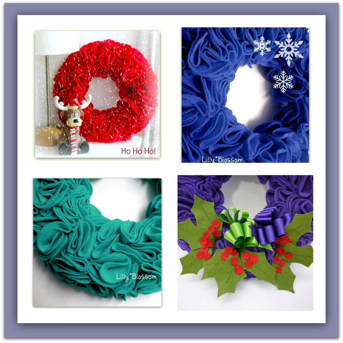 It's that time of the year again and you can make one of these gorgeous felt wreaths without any sewing !!! Just lots of cutting out and pinning. If you want to add the holly leaves the templates are included and you can simple stitch the veins and the berries on before attaching.. lots of close up photos will help you every step of the way :) https://www.etsy.com/uk/listing/108430833/pdf-christmas-felt-ruffle-wreath-with?ref=shop_home_active