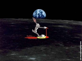 Image result for bugs bunny on moon