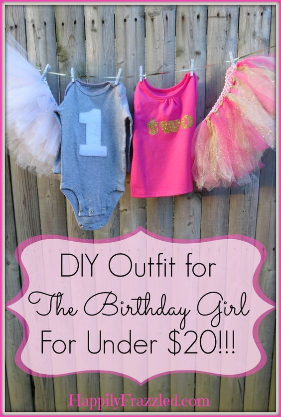 730e6171556d A step by step tutorial for making DIY Birthday Outfit including appliqued  shirt and No-Sew tutu for under $20!!! | HappilyFrazzled.com