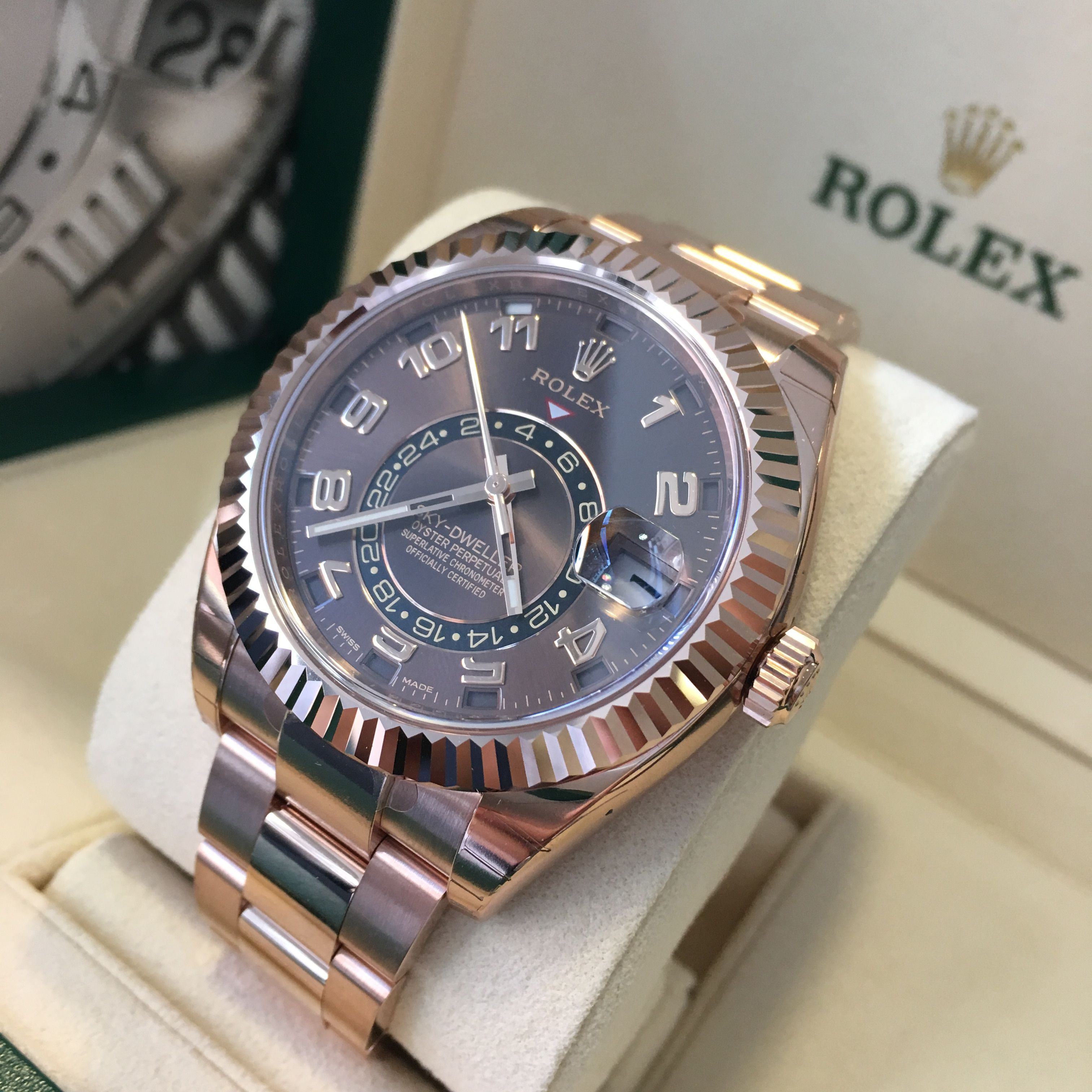Fly High with the Rolex Sky-Dweller Rose Gold Chocolate Dial 326935 Put it  on your wrist! 31b65712f6
