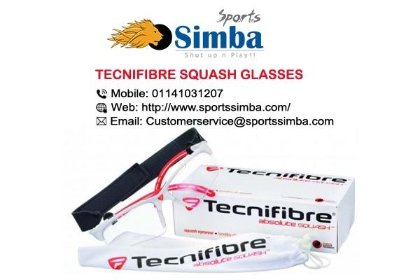 Stylish and Robust Squash Glasses Brought To You By Tecnifibre.  Now Available At: http://bit.ly/2j4YIVb