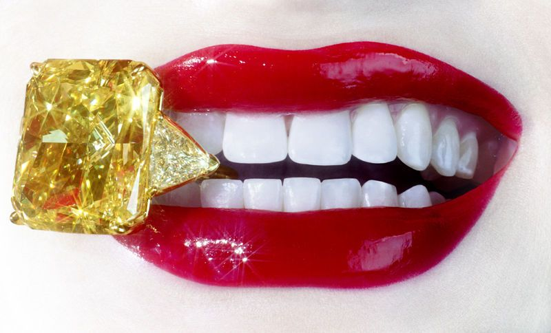 Canary Diamonds and Red Lips