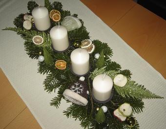 Schnelles Adventsgesteck Weihnachten,Advent,Tischdekoration ,Weihnachtsdekoration,Adventsgesteck,einfach,Schnell,