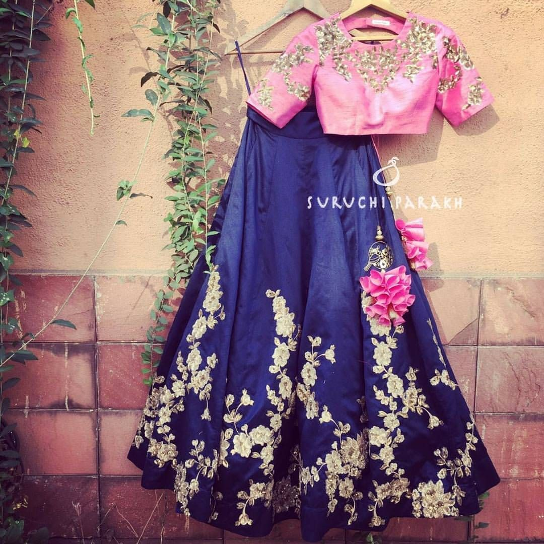 Falling in love with this beautiful lehenga! Such delicate and ...