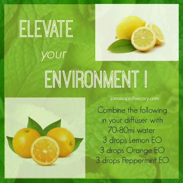Elevate your Environment. Essential oil blend for diffuser.