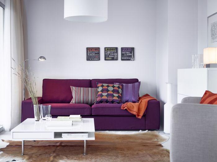 KIVIK 2-zitsbank #IKEA #bank #zitbank # woonkamer #roodpaars