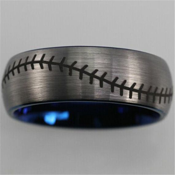 Top Quality Baseball Stitch Pattern Ring by coolhunterdesigns
