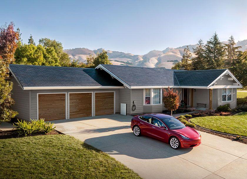 Tesla Solar Roof Tesla Solar Roof Shingles Look Entirely Normal Tesla Solar Roof Solar Panels Roof Solar Shingles