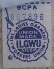 Vintage Fashion Guild Label Resource Ilgwu Used 1970s On A Swim Suit With Images Labels