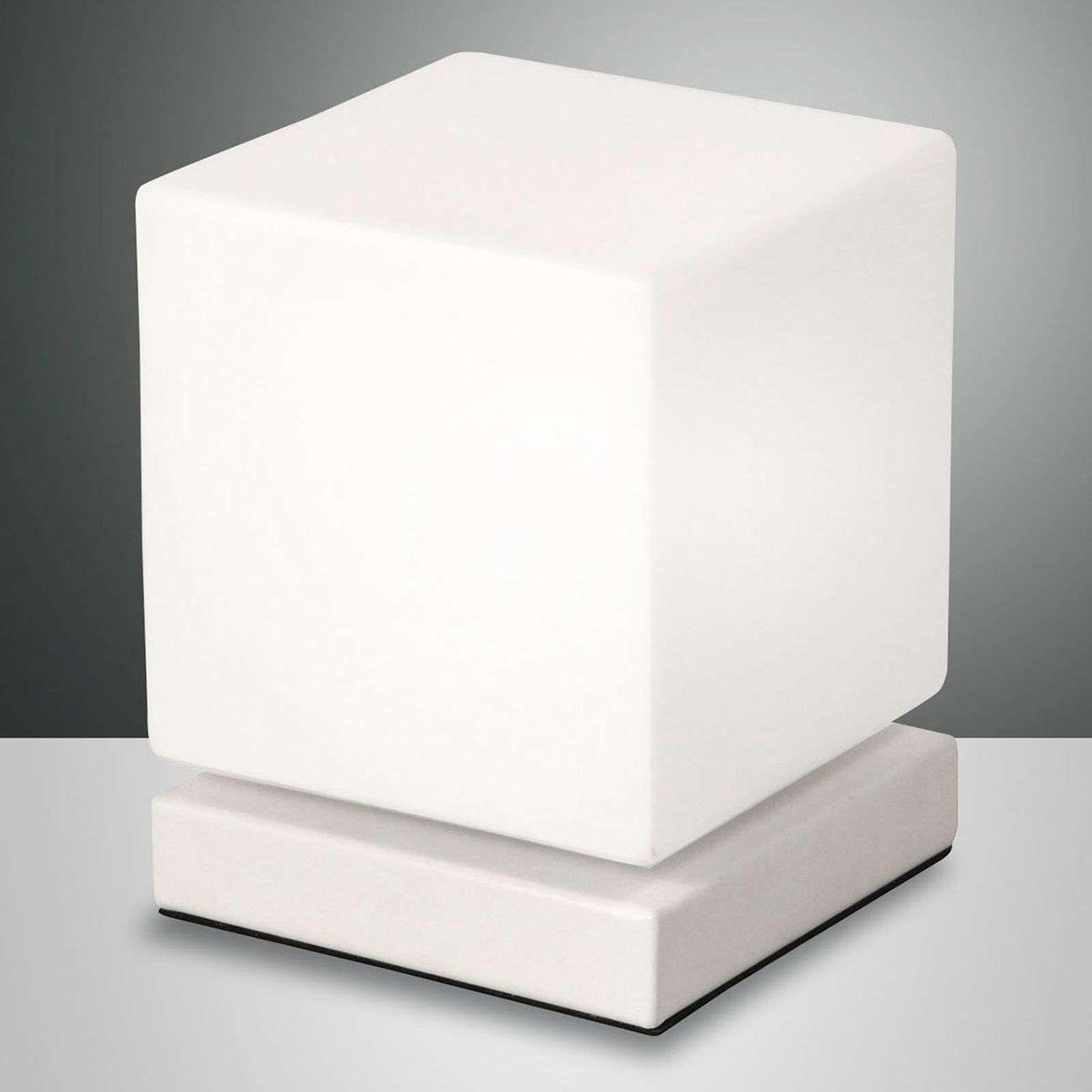 Met Aanraakdimmer Led Tafellamp Brenta Wit Tafellamp Moderne Lampen Led