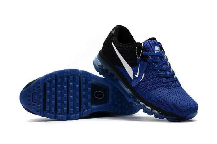 e17d2b65a7 Shop Nike Air Max 2017 Royal Blue Black White Logo Sneaker Online Hut -  $69.88