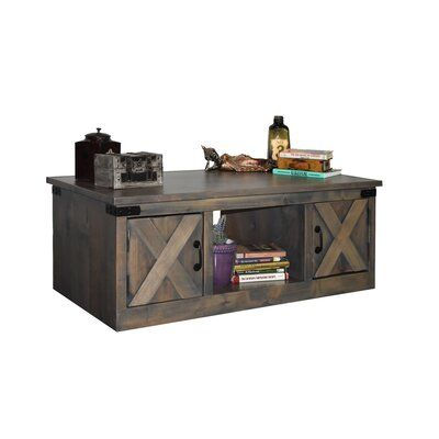 Loon Peak Pullman Coffee Table With Storage Colour Barnwood