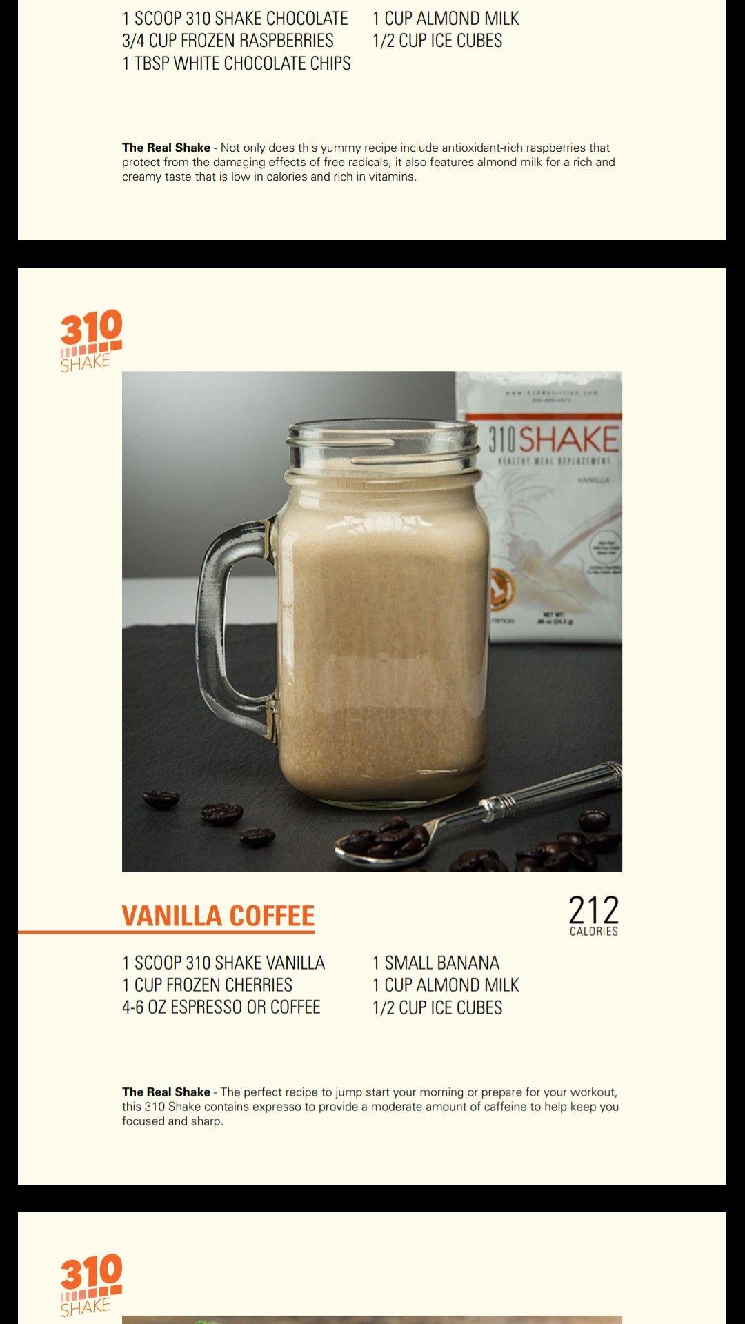 Pin by Kellie Larsen on 310 NUTRITION Vanilla shake