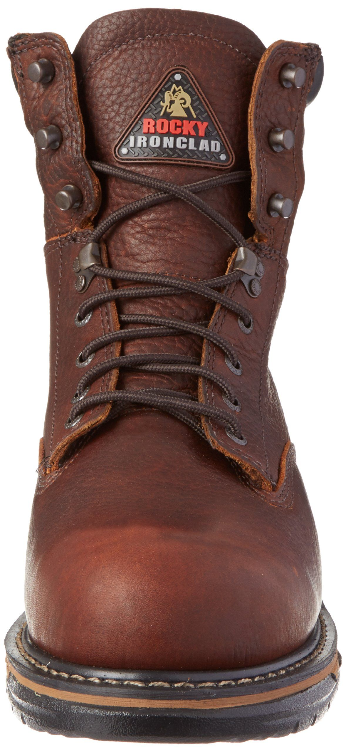 469e8e4bb69 Rocky Mens Iron Clad Eight Inch Steel Toe Work BootBrown11.5 M US ...