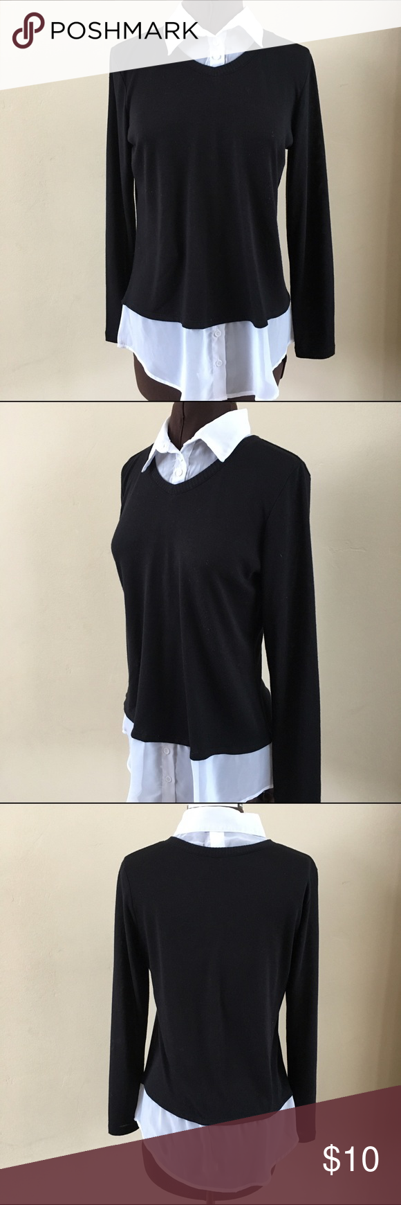 Lightweight Sweater With Built In Blouse Perfect Wear Everywhere