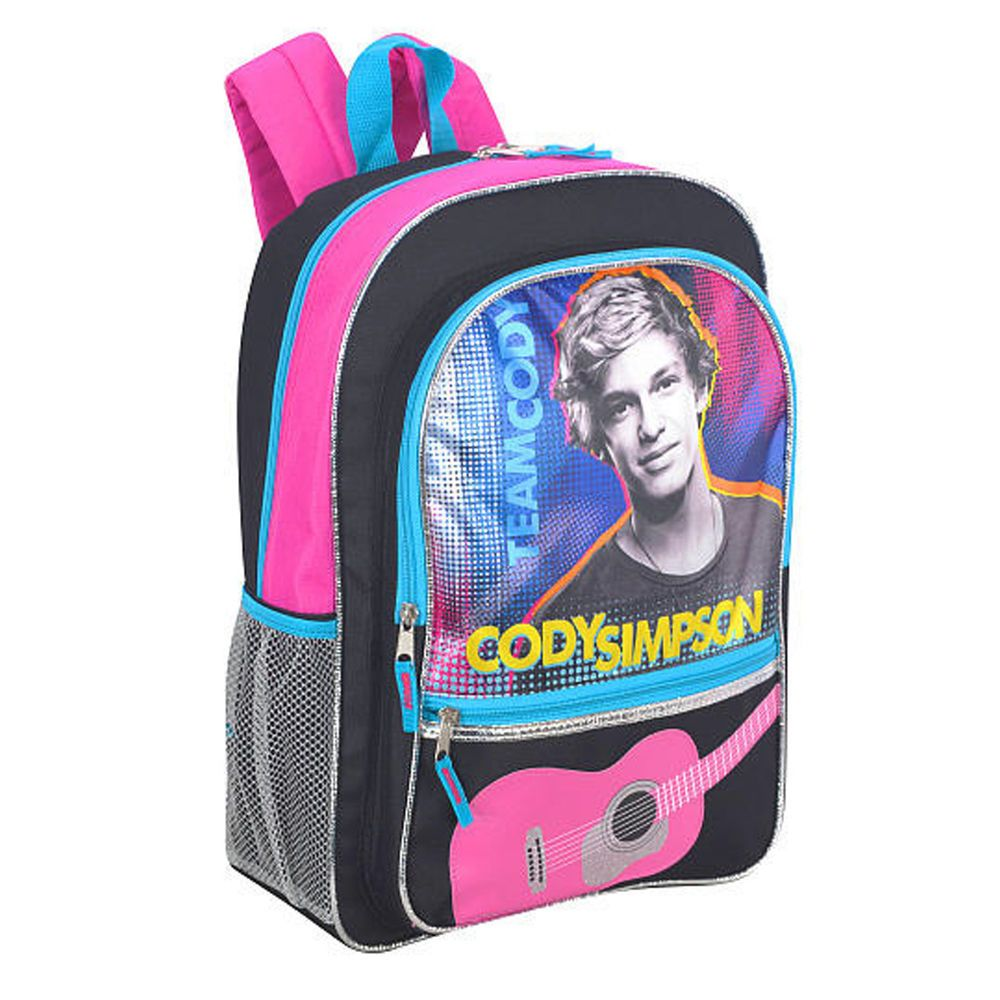The Games Factory 2 Backpacks, Black backpack, Cody simpson