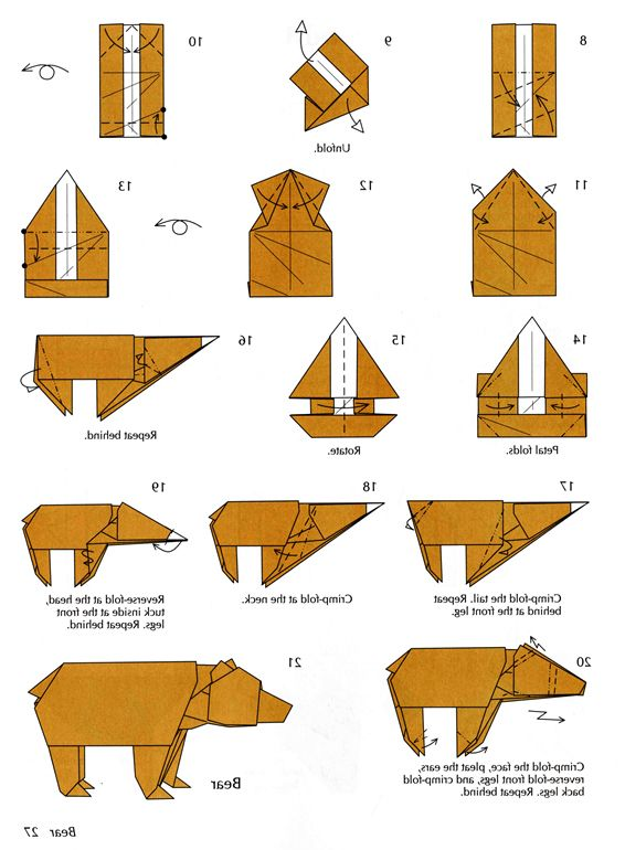 images of origami bear instructions | artosna.com | Paper ... - photo#16