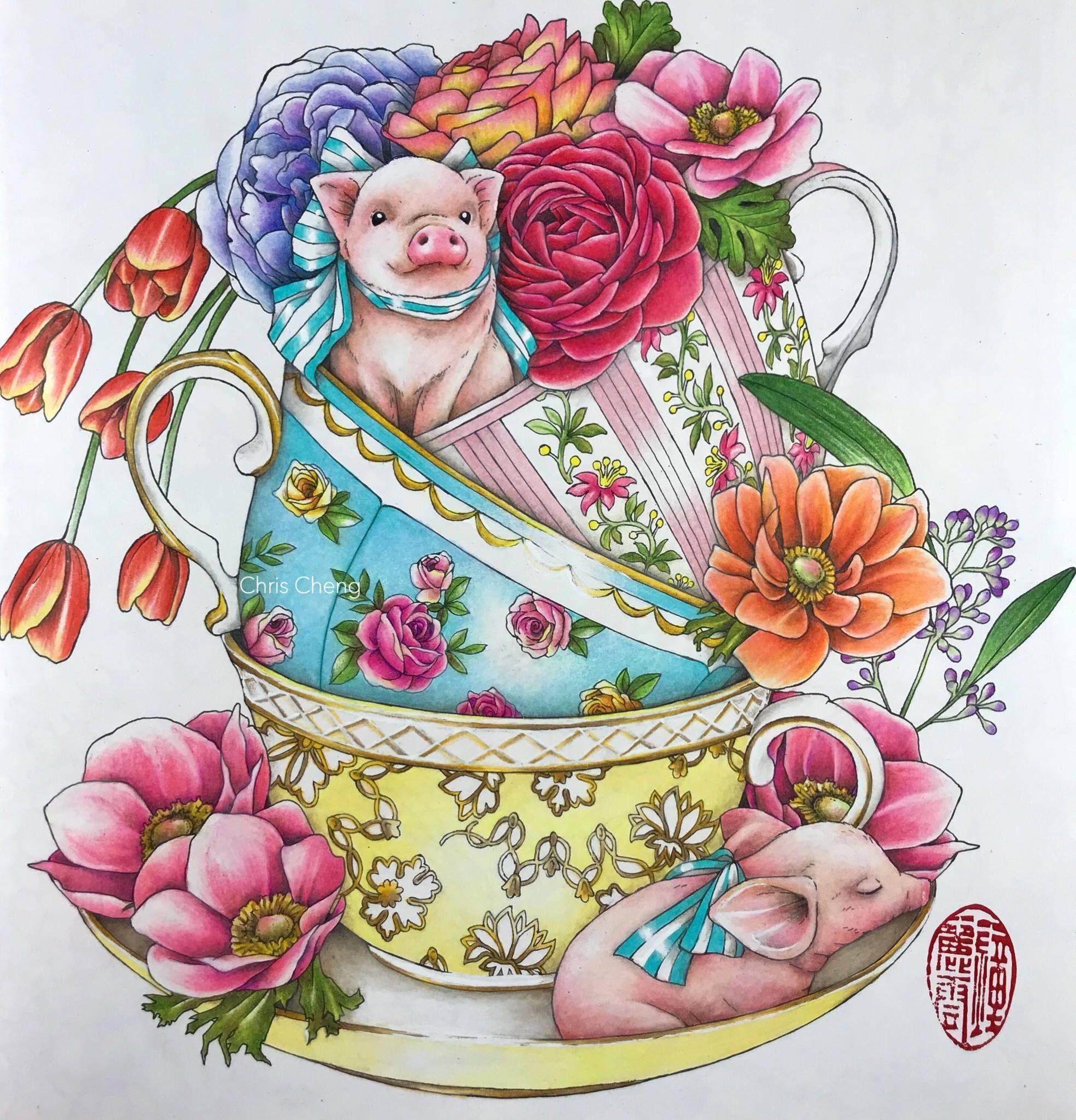 Menuet De Bonheur Chris Cheng Forest Coloring Book Chris Cheng Coloring Books