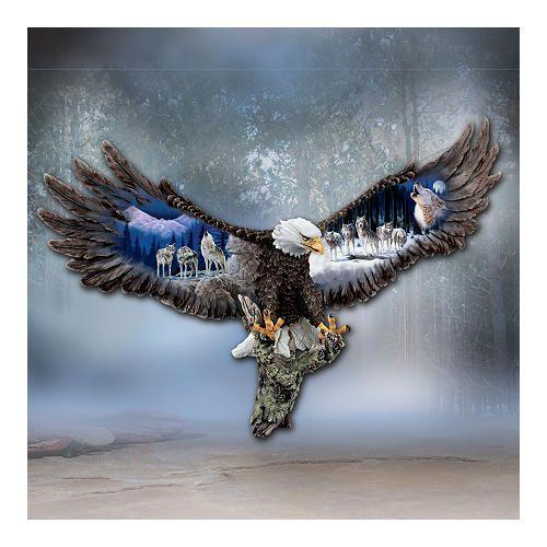 Sovereign Spirits Bald Eagle Wall Sculpture Interior