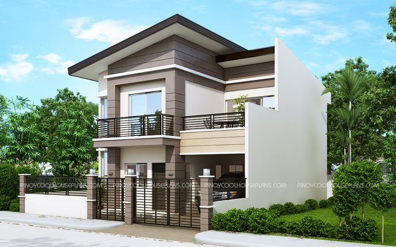 Mateo Model Is A Four Bedroom Two Story House Plan That Can Conveniently Be Constructed Modern House Plan Two Storey House Plans 2 Storey House Design