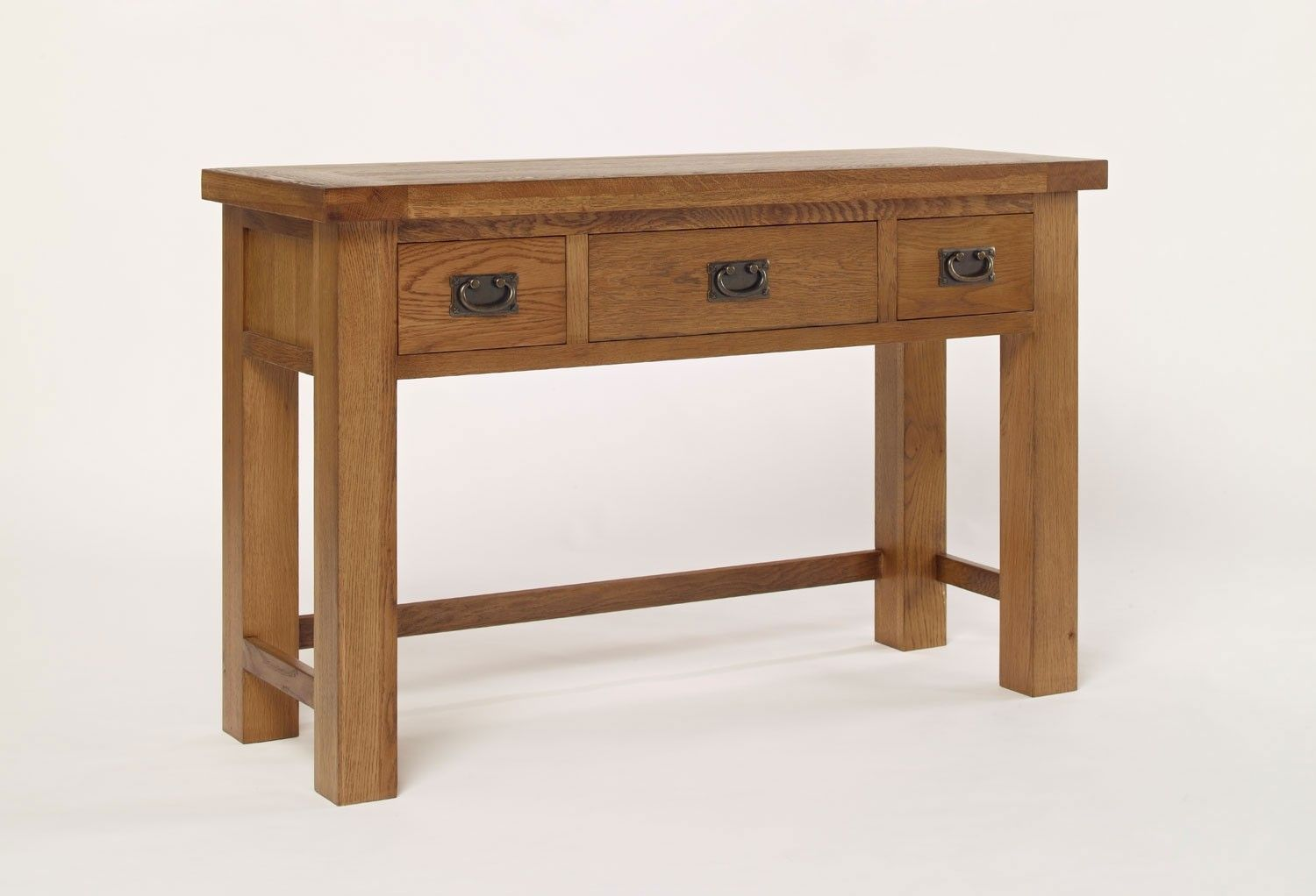 Check out the best in furniture with articles like where to buy kitchen cabinets, how to remove drawers with plastic stops, & more! Brooklyn Rustic Oak 3 Drawer Dressing Table (With images ...